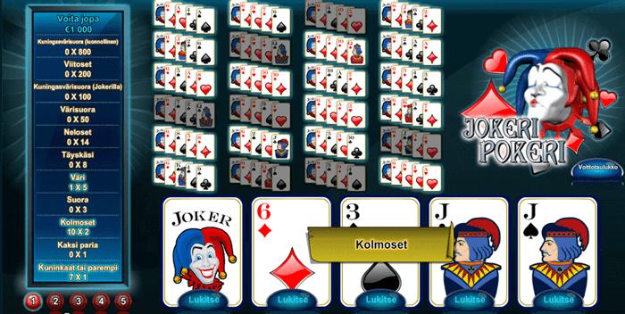 Jokeri Pokeri Ilmaiseksi