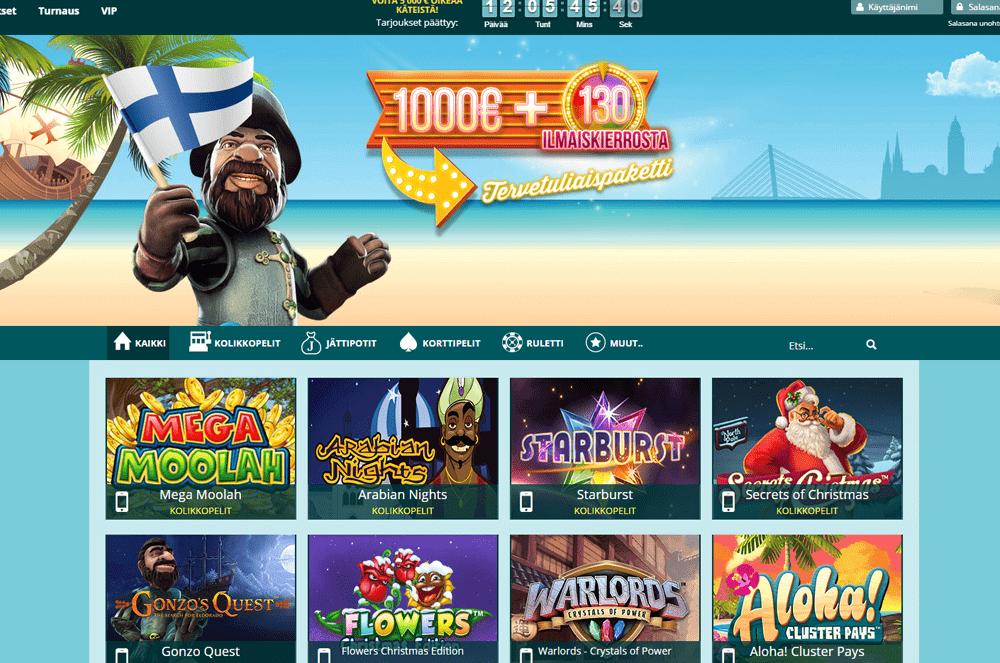 Parhaat internet casinot