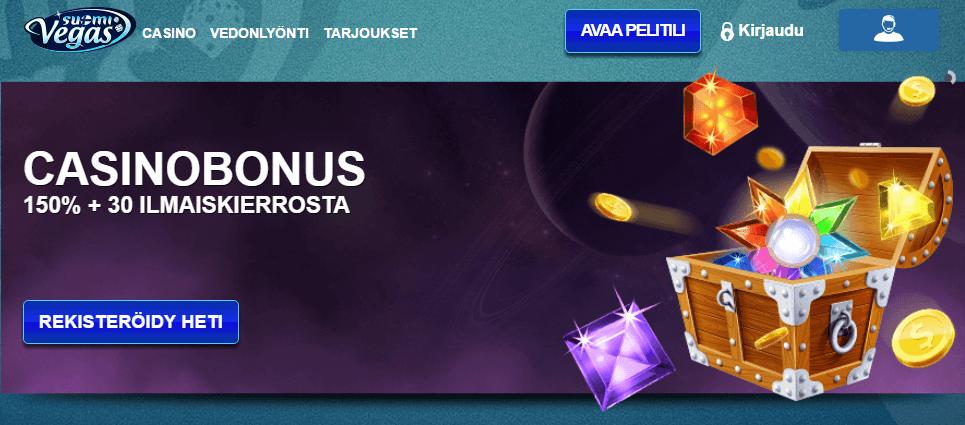 Uusi casino bonus Suomivegas
