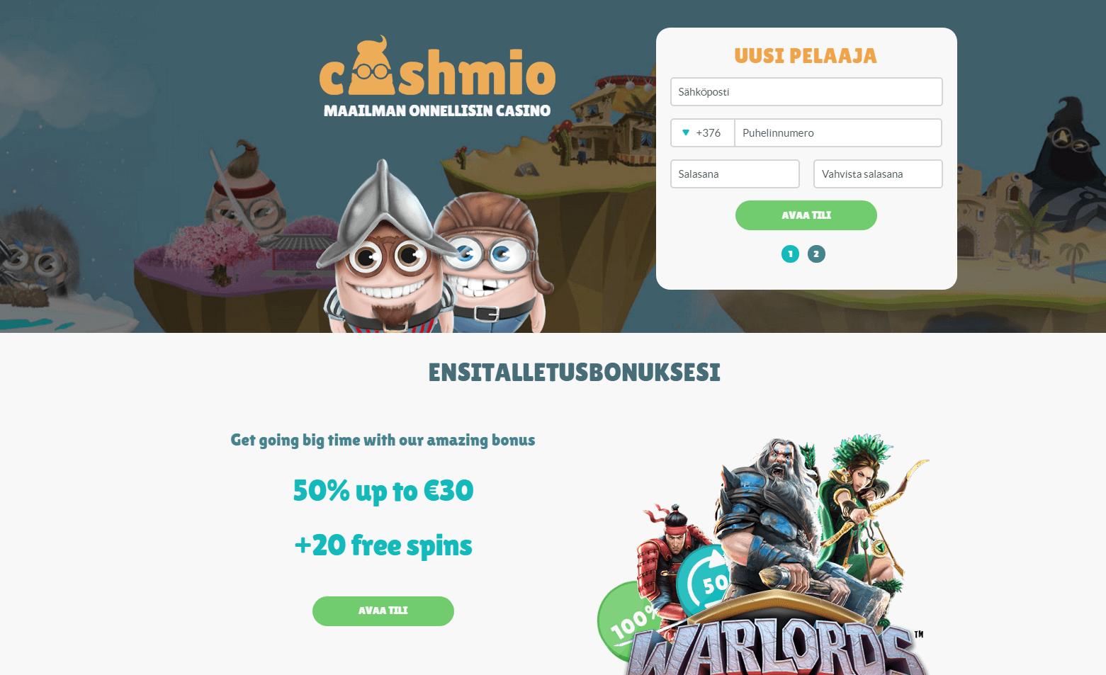 Cashmio Live kasino