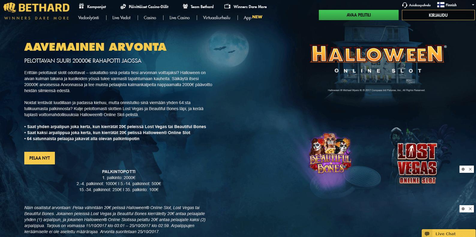 Bethard halloween arvonta