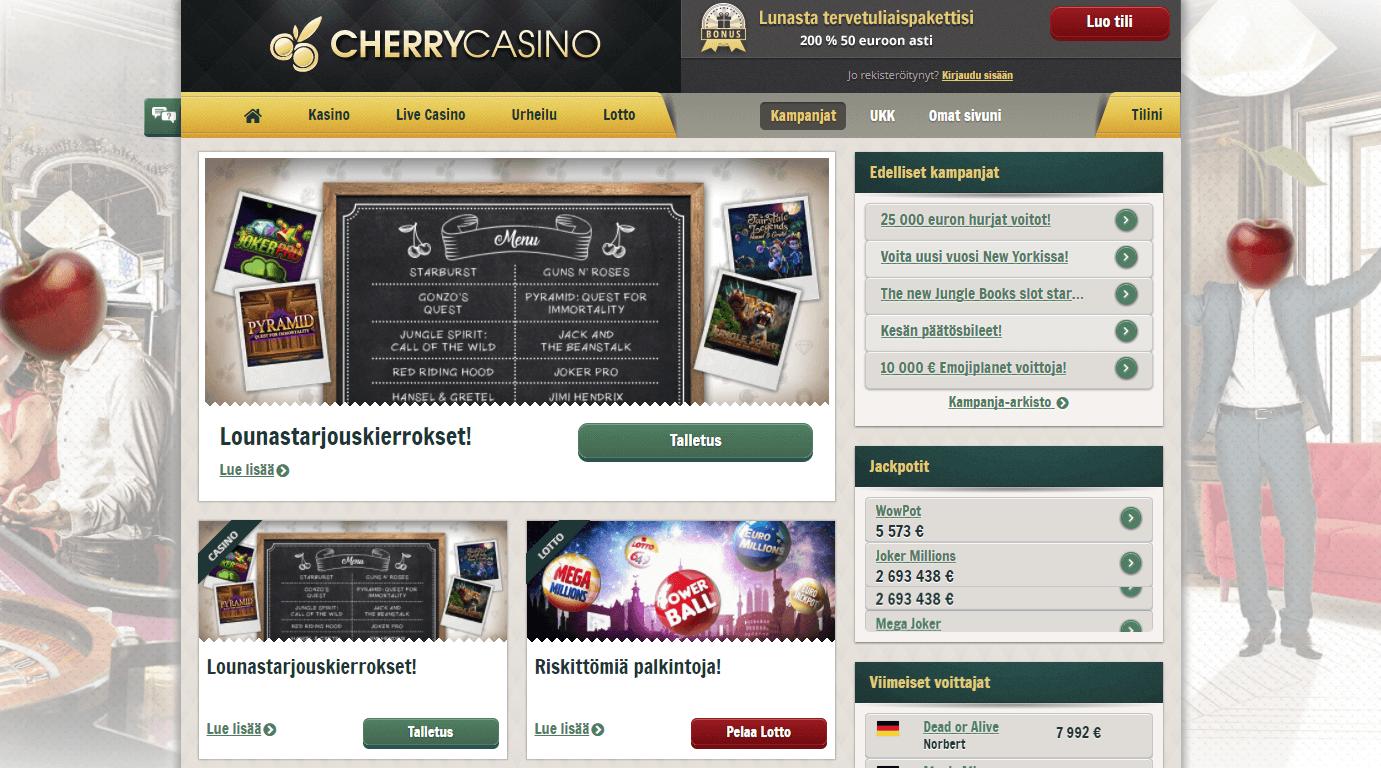 Cherry Casino lounaskierrokset