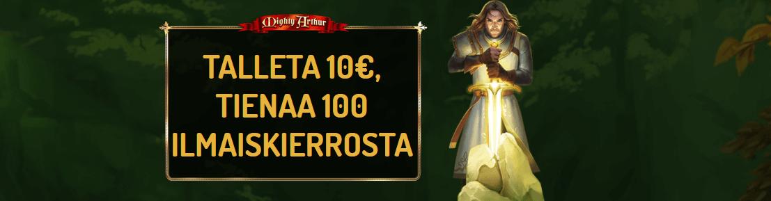 Mighty Artur 100 ilmaiskierrosta
