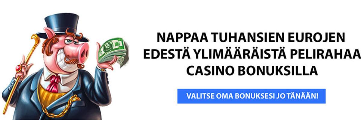 Casino bonus tarjoukset netissä