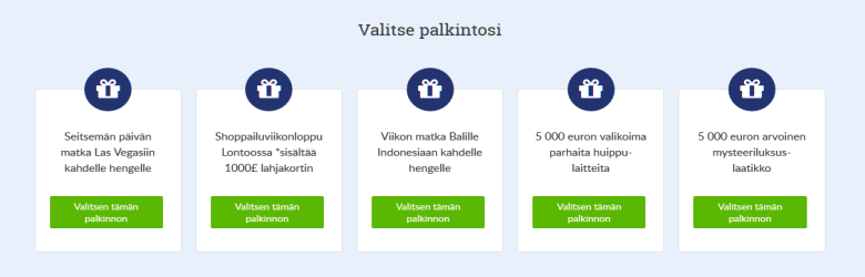 Suomiarvat_valitse_pääpalkintosi_viidestä_vaihtoehdosta