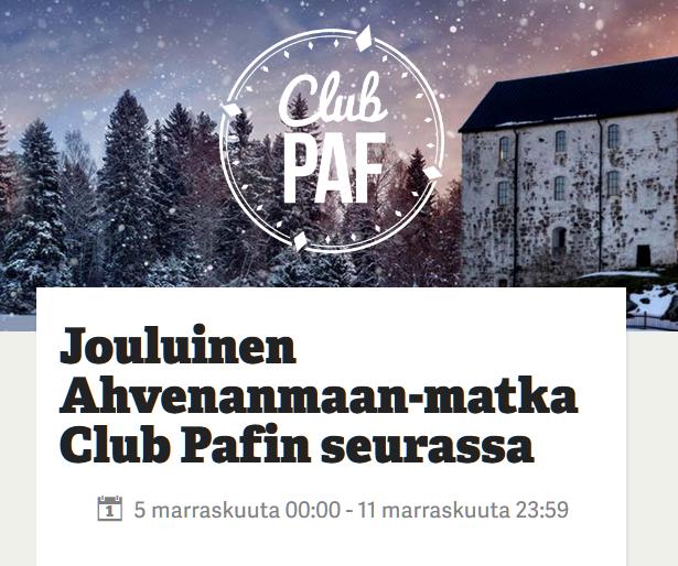 Paf_joulumatka_Ahvenanmaalle