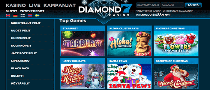 Diamond7 casino bonus