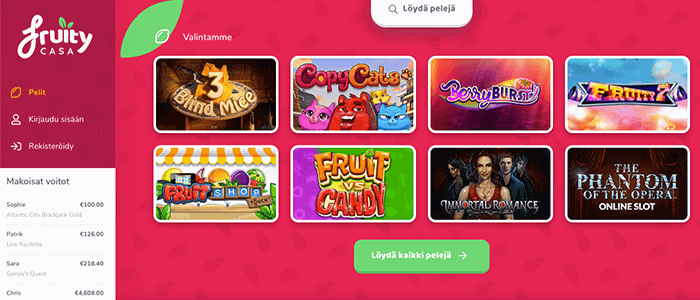 Fruity Casa casino bonus