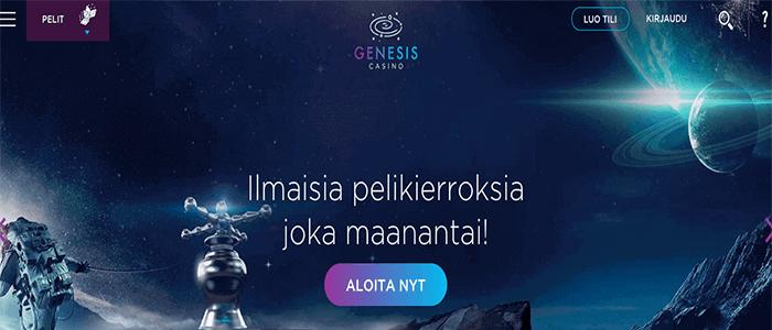 Genesis Casino ilmaiskierrokset