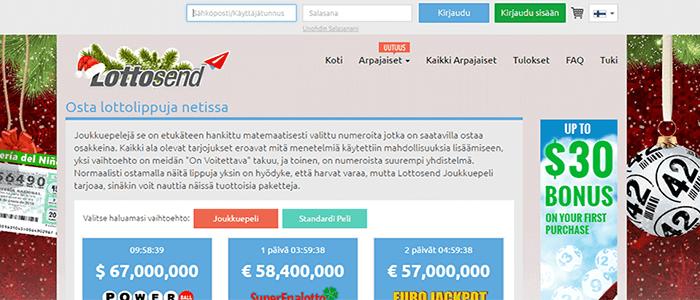 Lottosend bonus