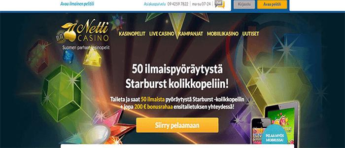 Netticasino.com ilmaiskierroksia