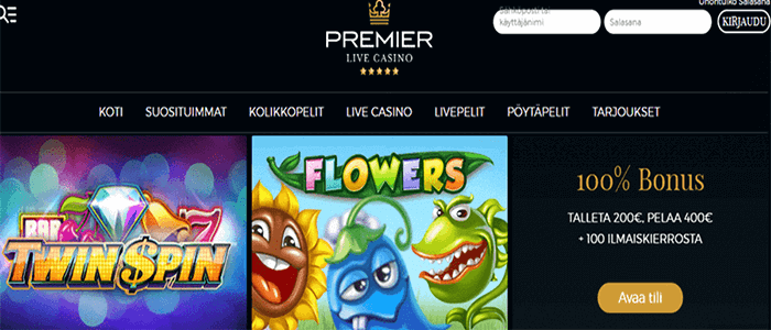 Premier Live Casino ilmaiskierroksia