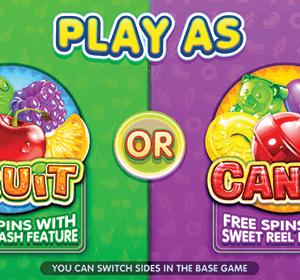Fruit Vs Candy kolikkopeli