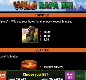 Wild Rapa Nui kolikkopeli