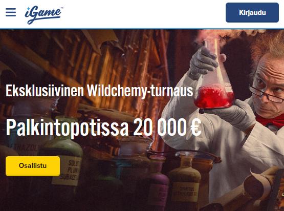20 000 euron palkintopotti iGamella