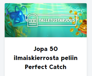 Betser - 50 ilmaiskierrosta peliin Perfect Catch