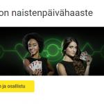 Unibet naistenpäivän 2000 euron arvoinen Blackjack -haaste