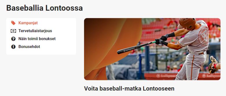 LeoVegas - Baseball-matka Lontooseen