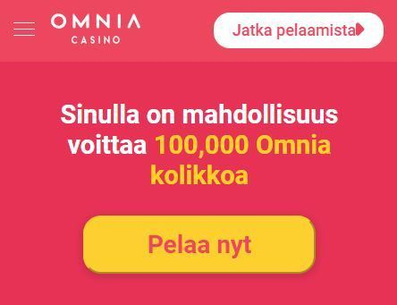 Omnia Casino 100 000 Omnia kolikkoa
