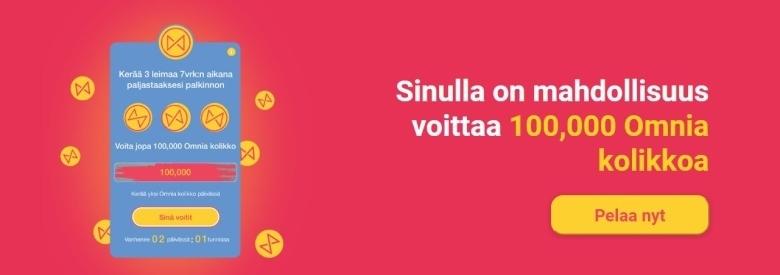 Omnia Casino - voita 100,000 Omnia kolikkoa