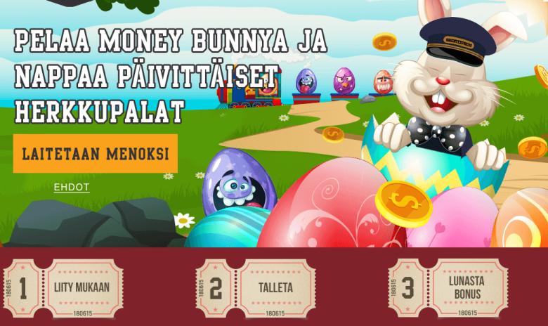 Orientxpresscasino ja Money Bunny + tervetulotarjous
