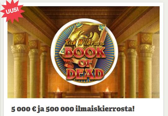 Paf 5000 euroa ja 500 000 ilmaiskierrosta