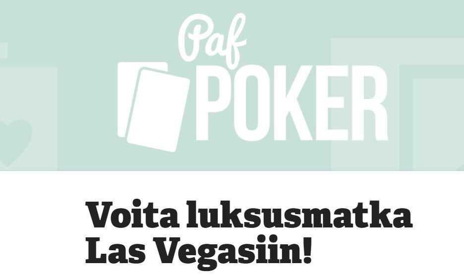Paf - Voita luksusmatka Las Vegasiin