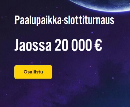 iGame paalupaikka 20 000 euroa