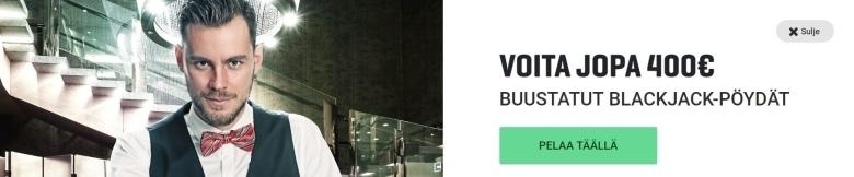Guts ja ylimääräiset 400 euroa Blackjackissä