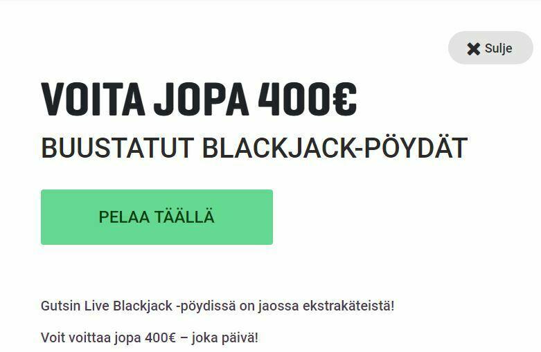 Guts ja ylimääräiset 400 euroa