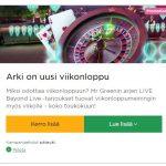 Mr Green ja arjen LIVE Beyond Live -tarjoukset