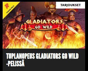 Rizk ja tuplanopeus kolikkopelissä Gladiators Go Wild
