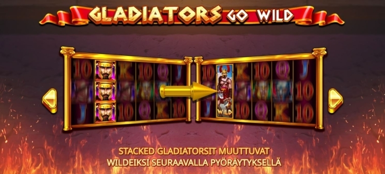 Rizk ja tuplanopeus pelissä Gladiators Go Wild