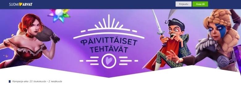 Suomiarvat - päivittäiset tehtävät