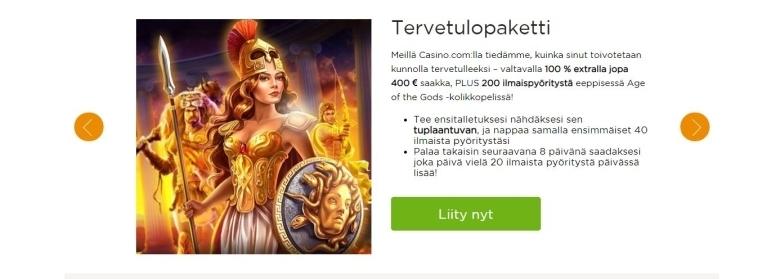 Casino.com tervetuloekstra