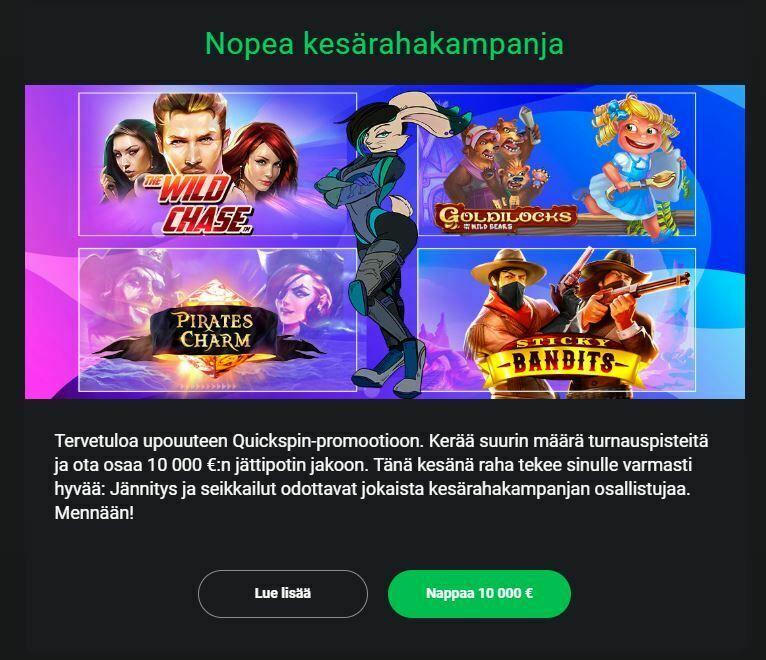 Casino Drift ja 10 000 euron kesäkampanja