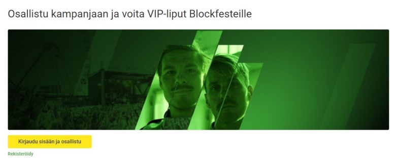 Unibet ja VIP-liput Blockfesteille