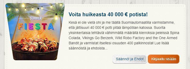 Suomiautomaatin Summer fiesta