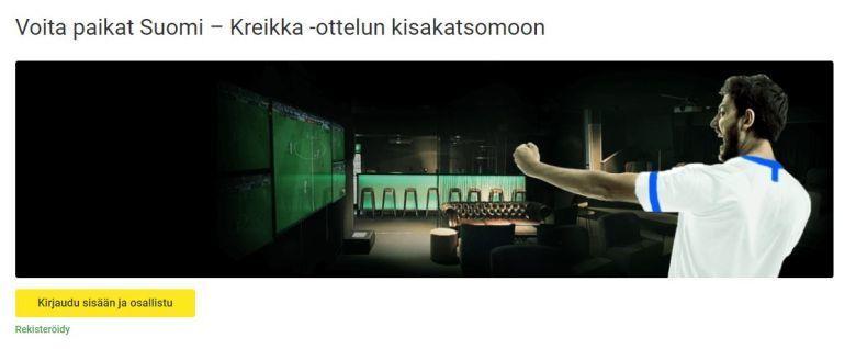 Unibet ja Suomi -Kreikka kisakatsomo