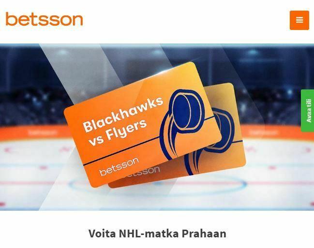 Betsson - NHL-matka Prahaan