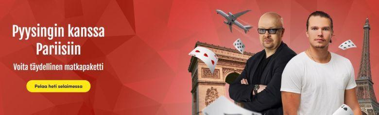 Casinohuone - matka Pariisiin Pyysingin kanssa