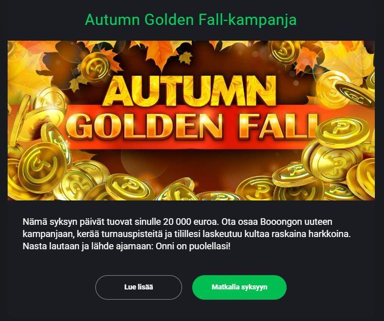 Drift Casino - Golden Fall