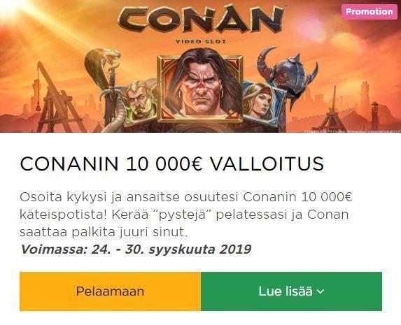 Mr Green ja uusi kolikkopeli Conan