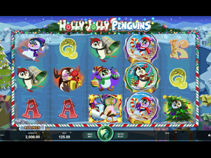 holly jolly penguins iframe