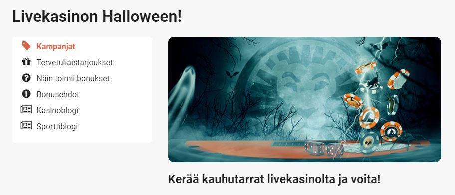 LeoVegas - Livekasinon Halloween