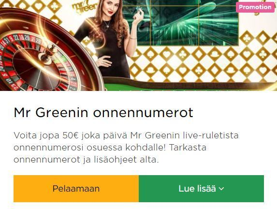 MrGreen - Live Ruletti