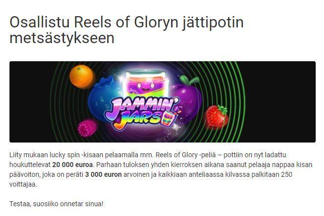 Unibet - Jammin Jars -kampanja