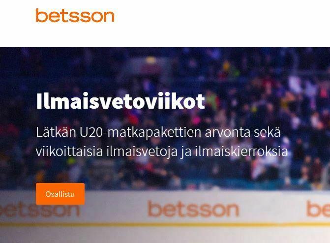 Betsson ja lätkän U20-matkapaketti