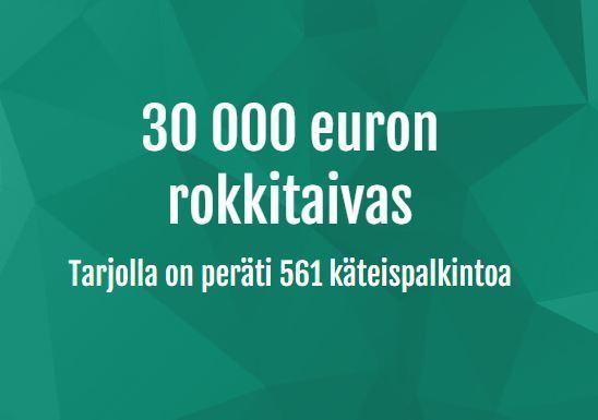Casinohuone - 30 000 euron rokkiarpajaiset