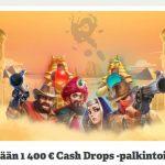 Paf ja Cash Drops-palkintoja